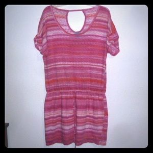 C & C California Striped Dress Swimsuit Cover Up M